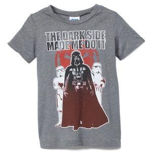 Star Wars Darth Vader Dark Side Shirt & Cape NWT